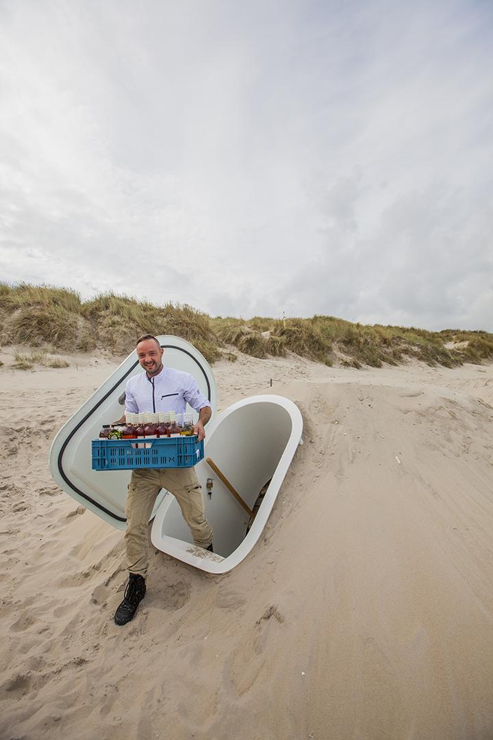 (Nederlands) Publicatie De Gelderlander: 'Een mobiele kelder voor in je tuin'